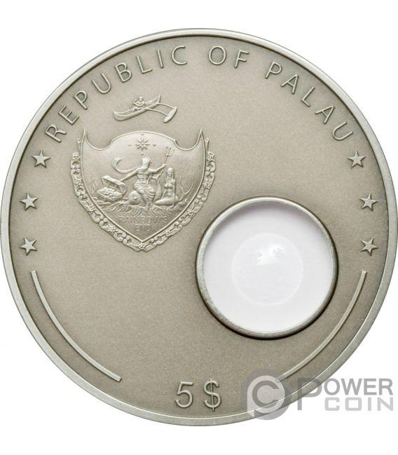 HANS LIPPERSHEY Telescopio Telescope Invention Moneda Plata 5$ Palau 2008
