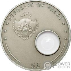 HANS LIPPERSHEY Fernrohr Telescope Invention Silber Münze 5$ Palau 2008