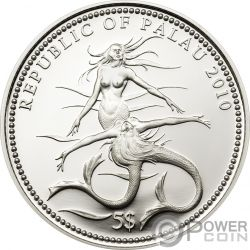 HAMMERHEAD Shark Fish Marine Life Серебро Монета 5$ Палау 2010