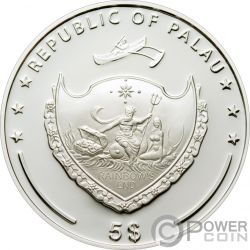 BIRD OF PARADISE CMA Pajaro Paraiso Exceptional Animals Moneda Plata 5$ Palau 2009