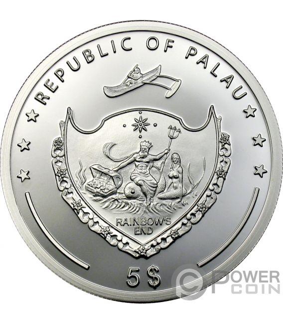 COCONUT Coco Scent Of Paradise Moneda Plata 5$ Palau 2009