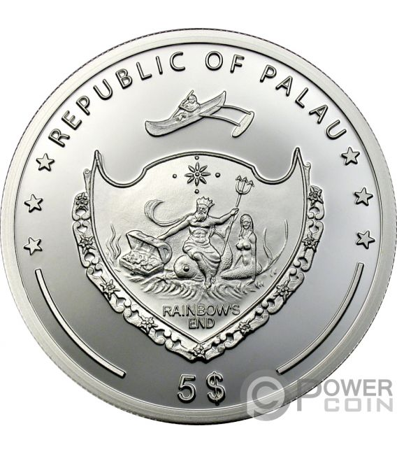 COCONUT Coconut Scent Of Paradise Silver Coin 5$ Palau 2009