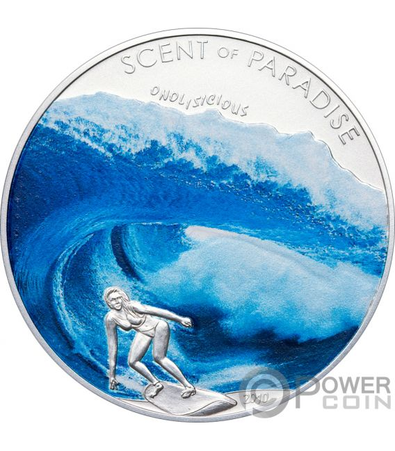 SEA BREEZE Surf Scent Of Paradise Silver Coin 5$ Palau 2010