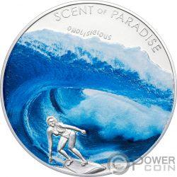 SEA BREEZE Surf Scent Of Paradise Серебро Монета 5$ Палау 2010