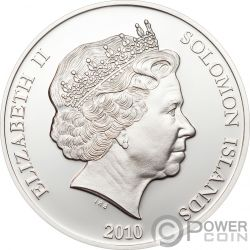 SPOTTED CUSCUS Tüpfelkuskus Endangered Wildlife Swarovski Silber Münze 10$ Solomon Islands 2010