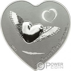 MY HEART FLIES FOR YOU Forma Corazon Moneda Plata 2$ Palau 2012