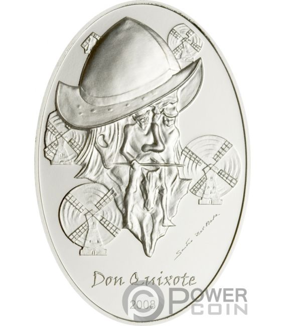 DON QUIXOTE Quijote Illusions Del Prete Silber Münze 5$ Palau 2008