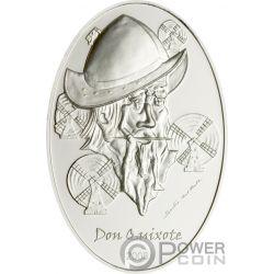 DON QUIXOTE Quijote Illusions Del Prete Moneda Plata 5$ Palau 2008