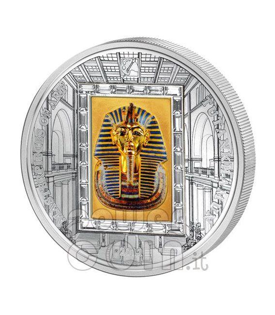 TUTANKHAMUN King Pharaoh Silver Gold Coin 20$ Cook Islands 2011