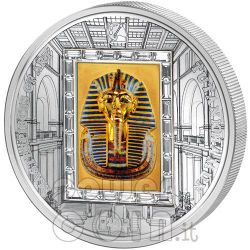 TUTANKHAMUN King Pharaoh Silver Gold Coin 20$ Cook Islands 2011