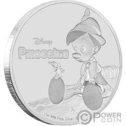 PINOCCHIO Disney 1 Oz Moneta Argento 2$ Niue 2018