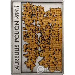 AURELIUS POLION Papyrus Tebtunis Papyri Silber Münze 1$ Niue 2018