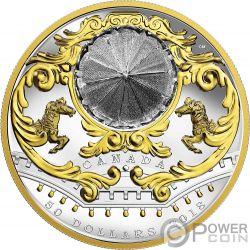 ANTIQUE CAROUSEL Movable Miniature 6 Oz Серебро Монета 50$ Канада 2018