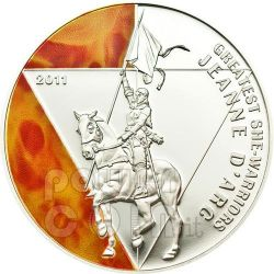 JOAN OF ARC Jeanne Greatest She-Warriors Silber Münze 500 Francs Togo 2011