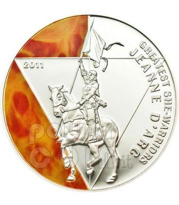 GIOVANNA D'ARCO Grandi Guerriere Moneta Argento 500 Franchi Togo 2011