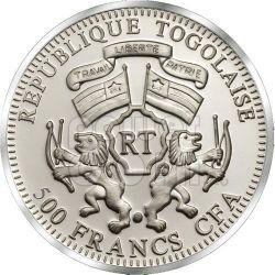 JOAN OF ARC Jeanne Greatest She-Warriors Серебро Монета 500 Франков Того 2011