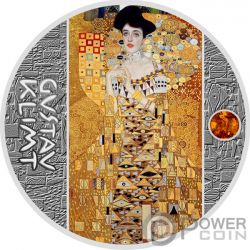 LADY IN GOLD Mujer Oro Gustav Klimt Golden Five Moneda Plata 1$ Niue 2018