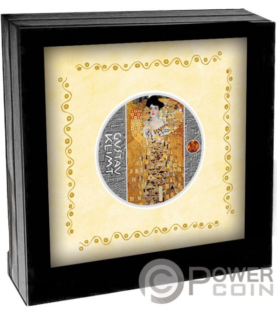 LADY IN GOLD Gustav Klimt Golden Five Silver Coin 1$ Niue 2018
