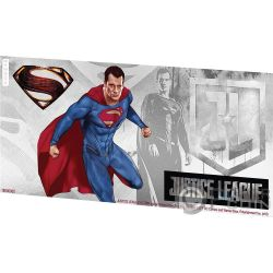 SUPERMAN Justice League Foil Серебро Note 1$ Ниуэ 2018