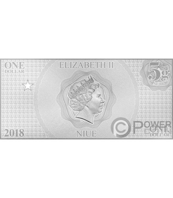 SUPERMAN Justice League Folie Silber Note 1$ Niue 2018