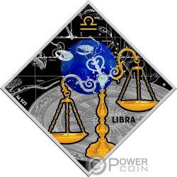 LIBRA Waage Zodiac Signs Silber Münze 100 Denars Macedonia 2018