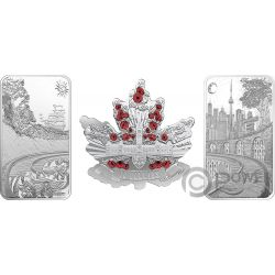 BENEATH THY SHINING SKIES Set 3 Silver Coins 10$ 25$ Canada 2018