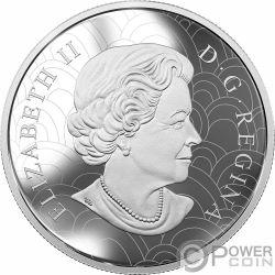 GREAT HORNED OWL Buho Zentangle Art 2 Oz Moneda Plata 30$ Canada 2018