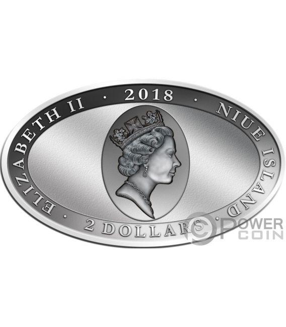 PINNIPED Robben Animal Skin 1 Oz Silber Münze 2$ Niue 2018