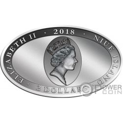PINNIPED Seal Animal Skin 1 Oz Silver Coin 2$ Niue 2018
