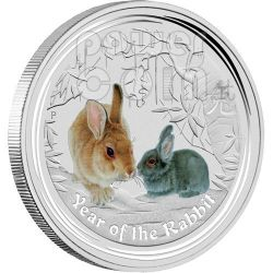 RABBIT PERTH ANDA Show Lunar Year 2 Oz Silver Coin 2$ Australia 2011