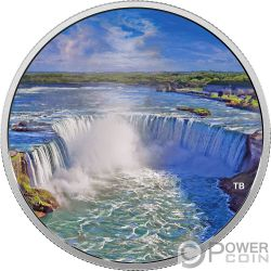 FIREWORKS AT THE FALLS Cascate Niagara Glow In The Dark 2 Oz Moneta Argento 30$ Canada 2018