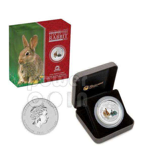 RABBIT PERTH ANDA Show Lunar Year 2 Oz Silver Coin 2$ Australia 2011