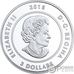 RASPBERRY MOON frambuesa Luna Teachings From Grandmother Moneda Plata 3$ Canada 2018