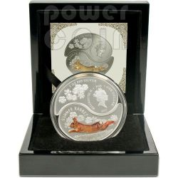 RABBIT YIN YANG Chinese Lunar Year Moneda Plata Set 1$ Fiji 2011