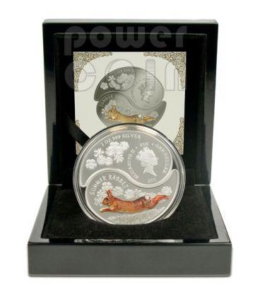 CONIGLIO YIN YANG Anno Lunare Cinese Monete Argento 1$ Fiji 2011