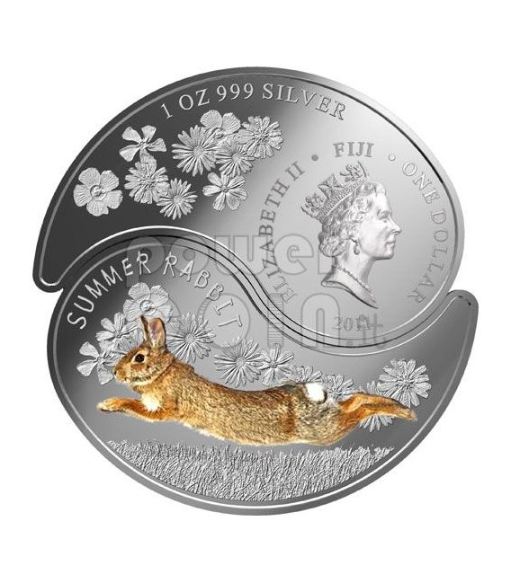 RABBIT YIN YANG Chinese Lunar Year Silver Coin Set 1$ Fiji 2011