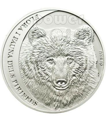 CANTABRIAN BROWN BEAR Pyrenees Silver Coin 5D Andorra 2010