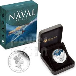 MIDWAY Battaglia Navale 1942 Moneta Argento1$ Cook Islands 2011