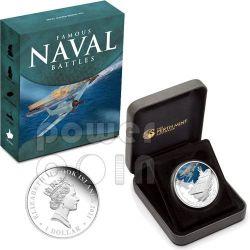 MIDWAY Naval Battle 1942 Moneda Plata 1$ Cook Islands 2011