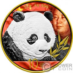 MAO ZEDONG Panda Cinese Moneta Argento 10 Yuan China 2018