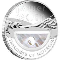 PEARLS Treasures Of Australia Silber Proof Locket Münze 1$ 2011
