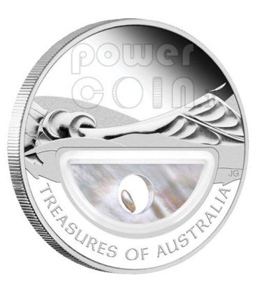 PEARLS Treasures Of Australia Silver Proof Locket Coin 1$ 2011