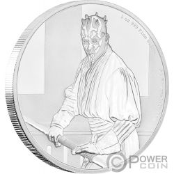 DARTH MAUL Star Wars Classic 1 Oz Moneta Argento 2$ Niue 2018