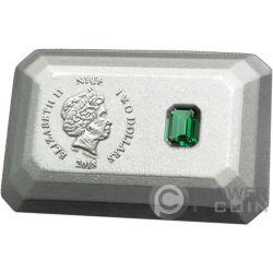 EMERALD Smaragd 3D Shape Silber Münze 2$ Niue 2018