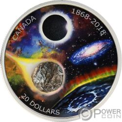 ROYAL ASTRONOMICAL SOCIETY Meteorito Observatorio 150 Aniversario 1 Oz Moneda Plata 20$ Canada 2018