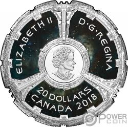 DEEP SPACE NINE Star Trek 25 Aniversario Moneda Plata 20$ Canada 2018