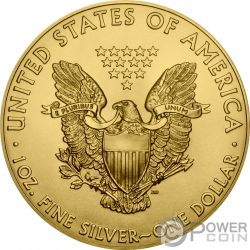 ATOMIC HANDSHAKE Kim Jong-un Donald Trump Walking Liberty 1 Oz Серебро Монета 1$ США 2018