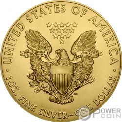 ATOMIC HANDSHAKE Kim Jong-un Donald Trump Walking Liberty 1 Oz Silber Münze 1$ US Mint 2018