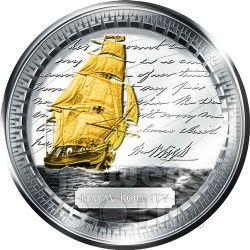 HMAV BOUNTY Moneda Plata Gilded 2$ Pitcairn Islands 2010
