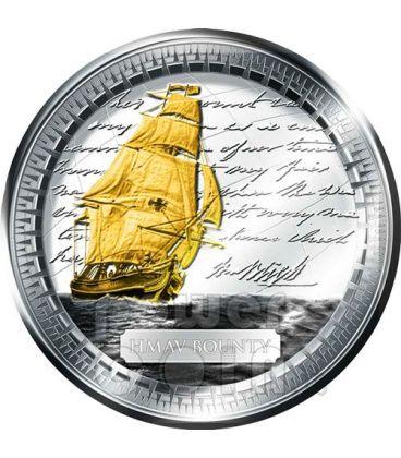 HMAV BOUNTY Silver Coin Gilded 2$ Pitcairn Islands 2010